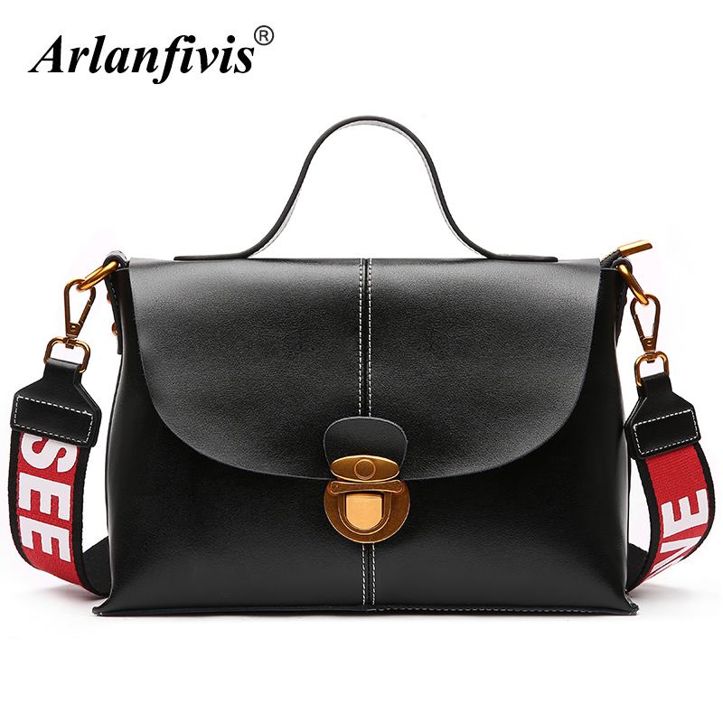 Arlanfivis Genuine Leather New Designer 2018 Fashion Woman Bag Cowhide Large Capacity Female Handbag Wide Strap Crossbody Bags arlanfivis genuine leather new designer 2018 fashion woman bag cowhide large capacity female handbag wide strap crossbody bags