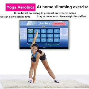 Image 3 - Esterilla de baile de Yoga luminosa para dos jugadores, Interfaz de ordenador de Tv, juego en casa, manta para bailarinas adelgazante, almohadilla con dos mandos