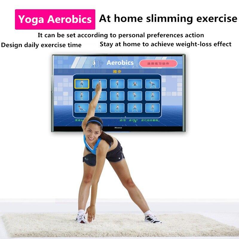 tapis lumineux de yoga et de danse pour deux joueurs interface tv ordinateur jeu a domicile couverture amincissante avec deux manettes