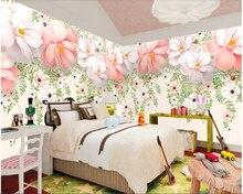 beibehang papel de parede Stereo flower hand painted watercolor vine 3D background wallpaper hudas beauty papier peint