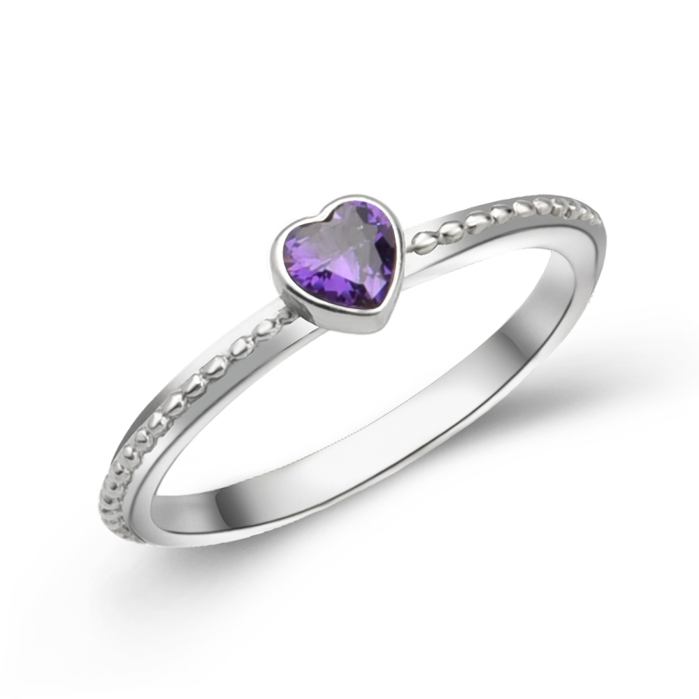 ring wedding purple band products heart set silver sterling bride engagement amethyst rings in diamond womens