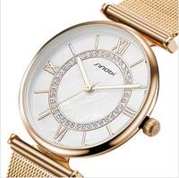 SINOBI Fashion Women S Gold Watches Top Luxury Brand Ladies Watch Diamond Bracelet Quartz Watch Women