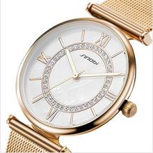 SINOBI De Mode Or Montres Top Marque Femmes Montres De Luxe de Diamant Dames Montre Femmes Montres Horloge saat relogio feminino