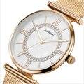SINOBI Moda Senhoras Relógio Bracelete de Diamantes Relógio de Ouro Relógios de Marca de Topo Mulheres Hora de Relógio de Quartzo Montre Femme Relogio feminino