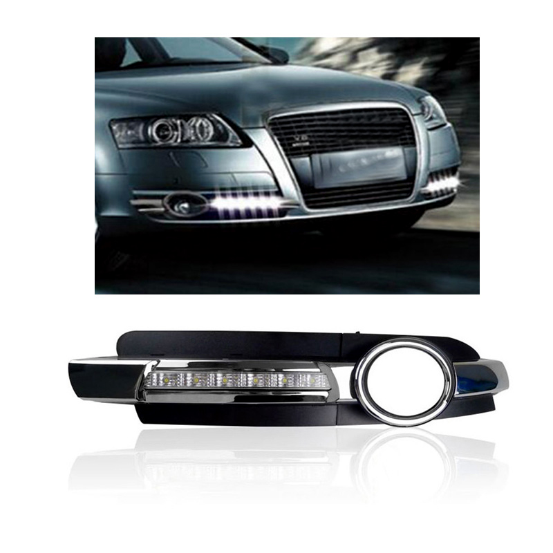 Day Light For AUDI A6 2005 2006 2007 2008  12V LED DRL Daytime Running Light Fog Lamp Decoration aftermarket free shipping motorcycle parts eliminator tidy tail for 2006 2007 2008 fz6 fazer 2007 2008b lack