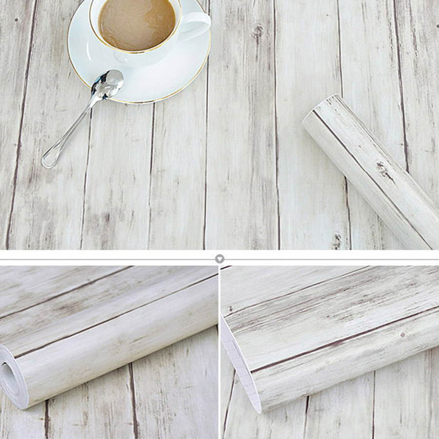 5M/10M Self-adhesive Wallpaper Rolls Wardrobe Cupboard Door PVC Imitation Wood Stickers Old Furniture Waterproof Decorative Film