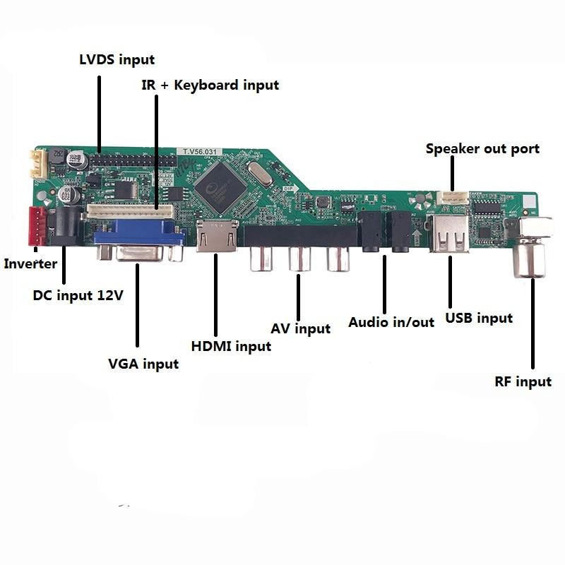 TV HDMI VGA RF LCD LED EDP controller Driver board for LTN156AT37 1366*768 panel