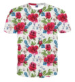 2017 Hot Causal Men 3D Printing Flower T-shirt O-Neck Short Sleeves Clothing for Male Tee Shirt