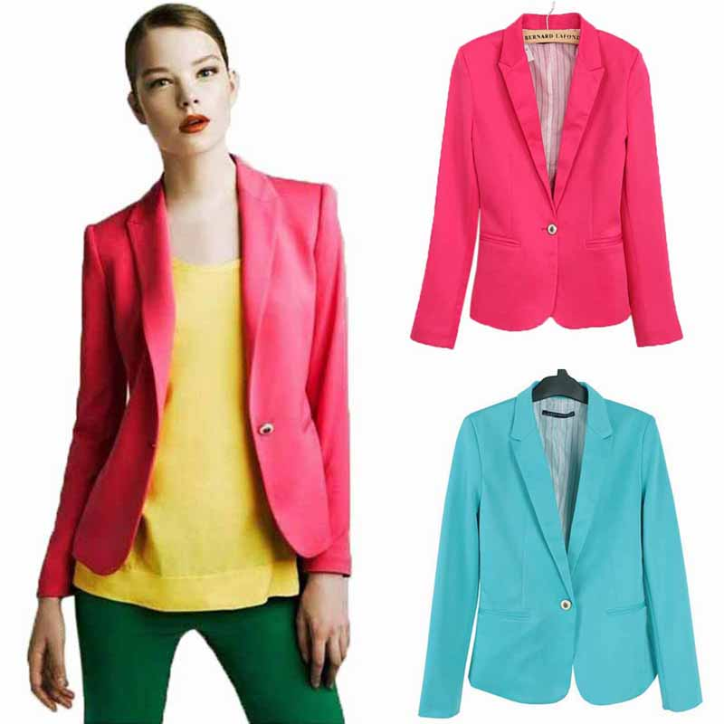 Liva girl Women Jackets Slim Fit Casual Coats Lapel Blazers