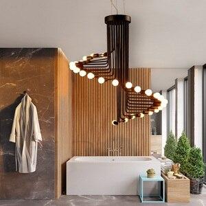 Image 3 - Nowoczesne lampy LED Nordic oświetlenie do salonu lampy bar żyrandol restauracja światła wiszące cafe nowość jadalnia żyrandole