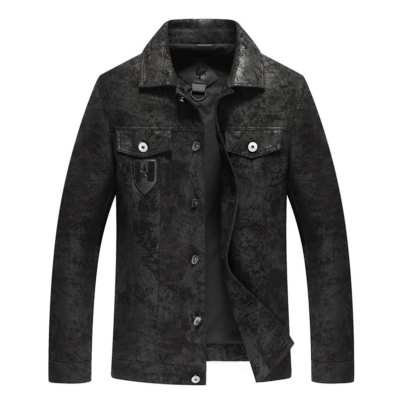 Popular fashion in 2018 a new leather jacket,Genuine Leather,Sheepskin,motorcycle man coat,Leather jacket men,biker jacket