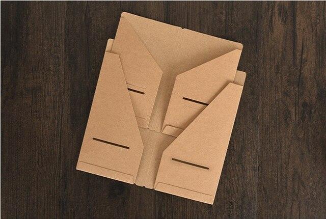 Kraft Paper Storage Bag Card Tickets Organizer Folder For Leather Traveler S Notebook Diary Journal 100pcs