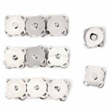 10 шт. 14/18 мм Сделай Сам Магнитные защелки застежка для сумочки металлические кнопки сумка ремесло# T025