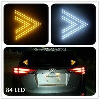 2 Pcs 11X12 5cm 84led Car Led Turn Signal Indicator Light Led Refit Car Light Big