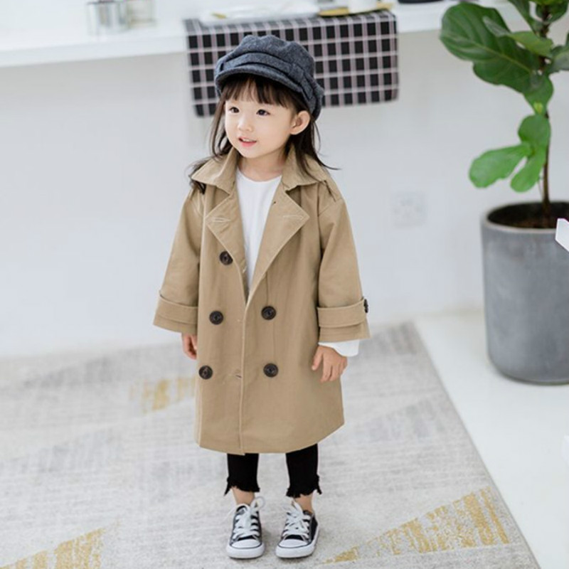 7144438b6e84 Autumn Parka Girls Zipper Jacket Children Solid color Hoodies ...