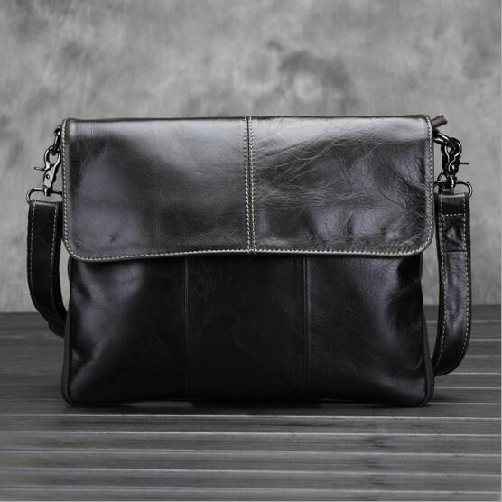 100% Genuine Leather Men bags Fashion Brand Designer Handbags 2017 Shoulder Vintage Retro Cow Bags Men Messenger Bags Briefcase brand vintage retro 100