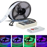 5M 1812 IC 5050 RGB 600LED Double row Multi colored lights strip+RF controller