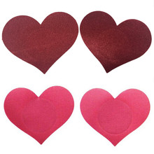 1 Pair 4 Colors Heart Shape Breasts Petals and Sticker Emptied Chest Breast Petal Breast Petals Adhesive Nipple Covers Sex Toys