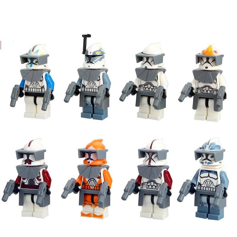 2018 New Star Wars 7 Starwars MiniFigure The Force Awakens Clone Trooper Commander Fox Rex Building Blocks Toys for Kids Gifts