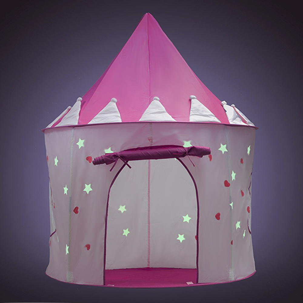 Kids Toys Tents Luminous Play Tent Boy Girl Princess Castle Indoor Outdoor Kids House Play Ball Pit Pool Playhouse For Children