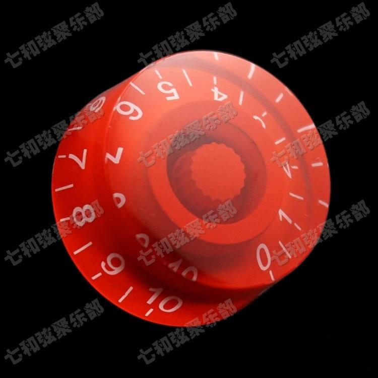 Red Guitar Parts Electric guitar knob cap potentiometer cap musical instruments accessories