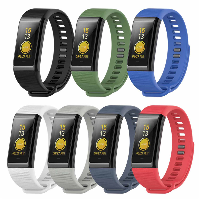 Replacement Silicone Band Strap for Amazfit Cor A1702 Smart Watch Lightweight Breathable Skin Friendly Wristband