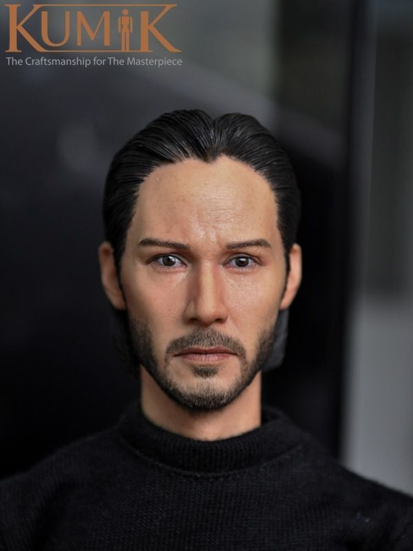 "1/6 15-5 Male Figure Head Keanu Reeves John Wick Head Sculpt Headplay 12"" Action Figure Collection Toys Gift"