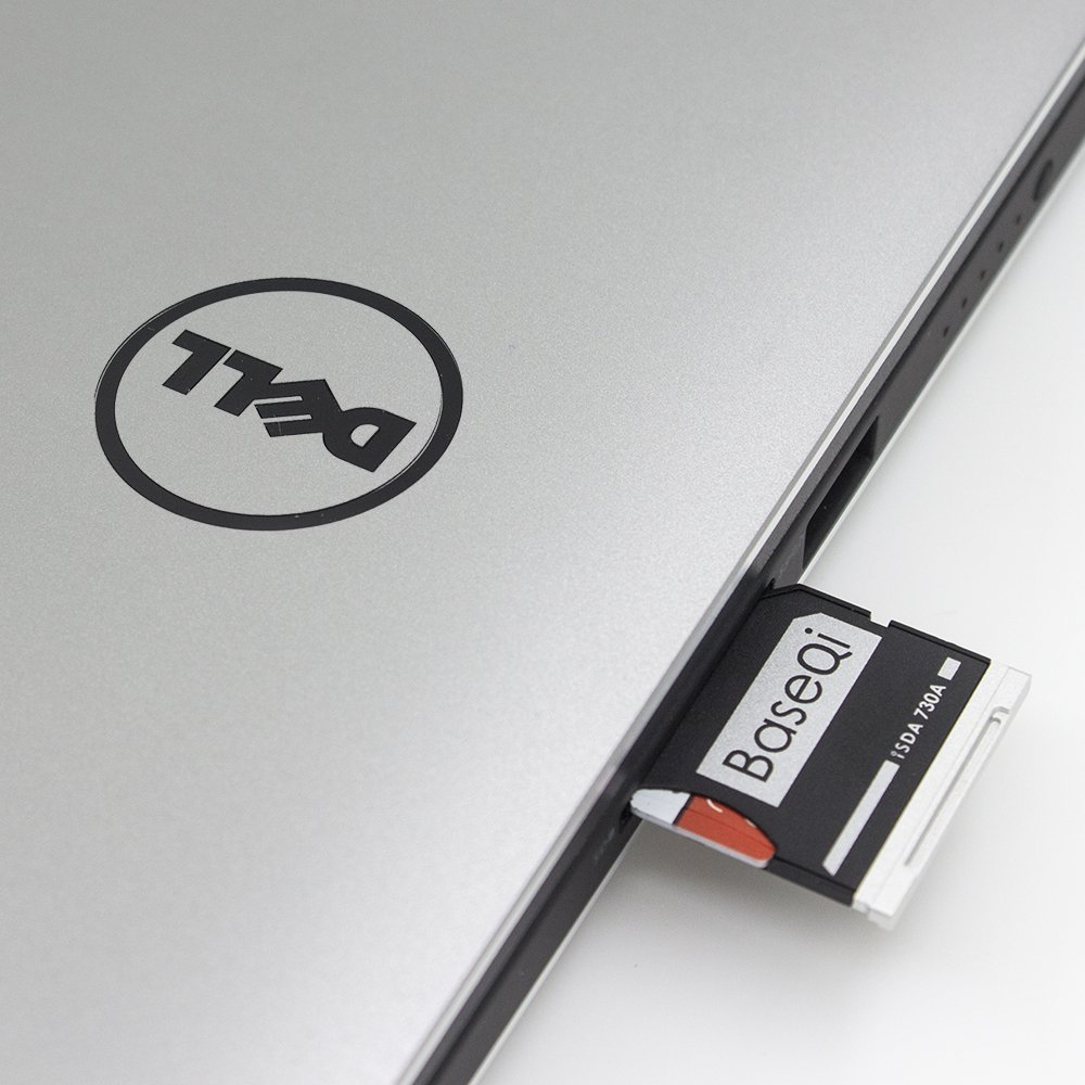 BaseQi de aluminio NinjaDrive Micro SD/TF Tarjeta de adaptador para Dell XPS 13