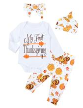Oklady Thanksgiving Baby Girl Outfits My First Thanksgiving Romper Turkey Pants Clothes Sets