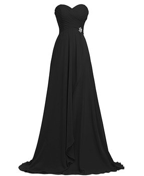Aswomoye Elegant Chiffon Long Evening Dress 2019 New Fashion Draped Prom Party Dress Solid Color A-Line robe de soiree