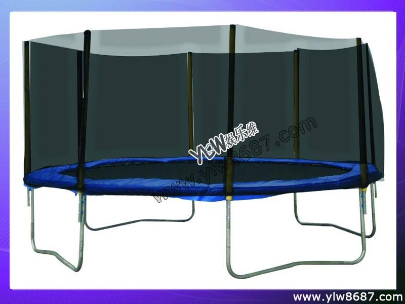 household exercise big trampoline bed with safety net