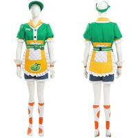 OW Mei Cosplay Costume Honeydew Skin Dress Apron Outfit Full Suit Halloween Carnival Costumes For Girls Women