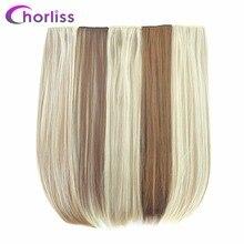 Лучший!  Chorliss 24 дюйма (60 см) длинные прямые женские клипсы для наращивания волос черный коричневый