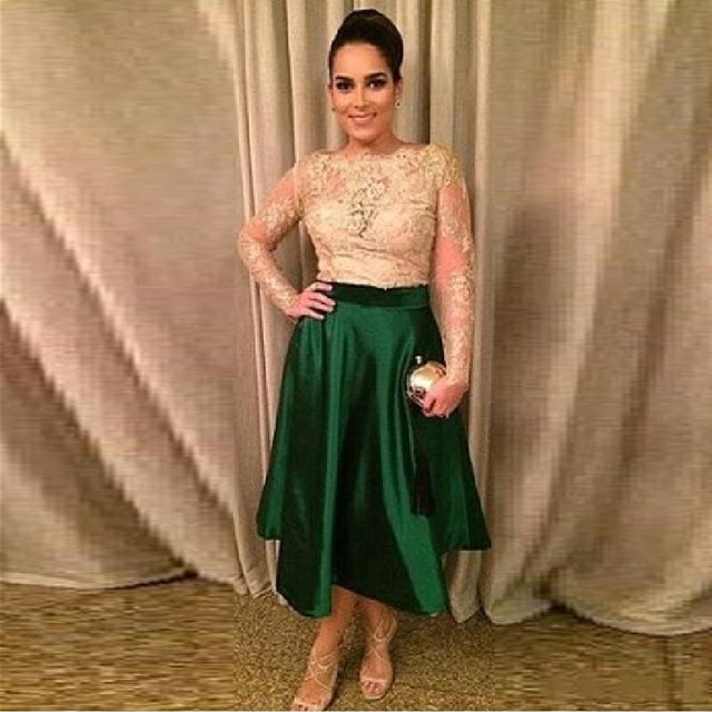 Mother Of The Bride Dresses Plus Size Satin Gold Lace Green Tea