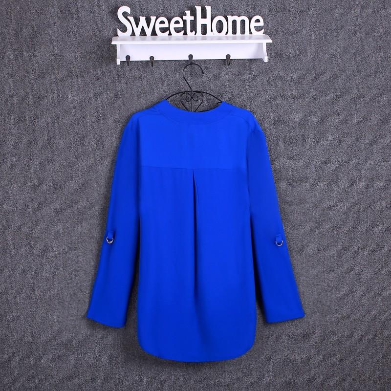 HTB1MxoyKpXXXXbZXFXXq6xXFXXXW - Chiffon Blouse Shirts Women's Long Sleeve V-Neck