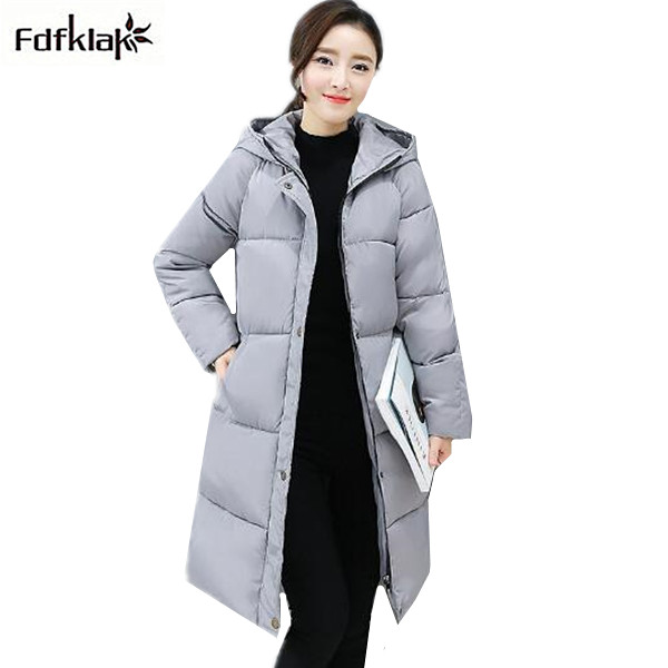 Plus size thick warm winter jacket outerwear for women hooded long cotton coat casual loose ladies coats jackets parka women okxgnz winter cotton jacket coat women 2017long cotton padded costume hooded loose warm coats plus size women basic coats ah021