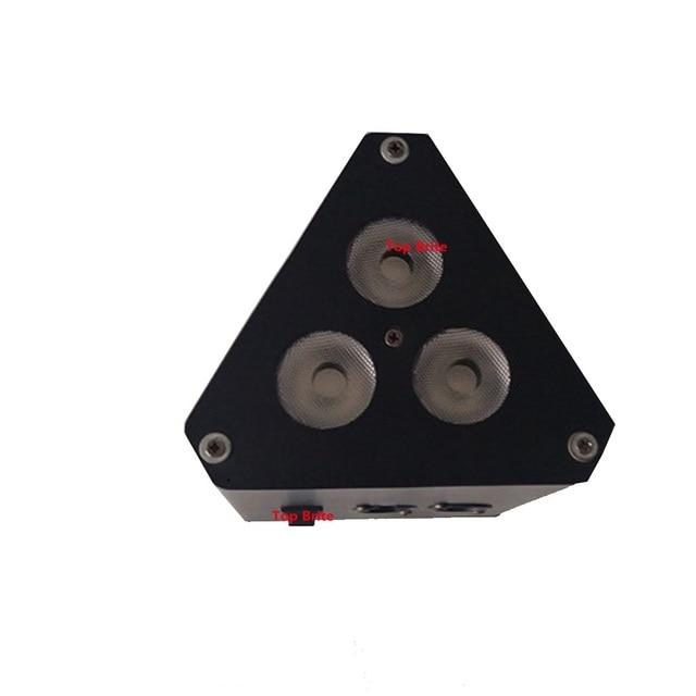 2XLot prix usine plus récent LED Par lumières 3X10W RGBW 4IN1 Mini LED Triangle effet lumière 5/9 canaux DMX expédition rapide