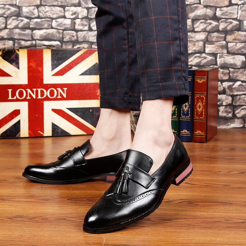 Men's Shoes 2018 New Fashion Style Designer Formal Mens Dress Shoes Genuine Leather Luxury Wedding Shoes Men Flats Office Shoes Lc6079 To Be Distributed All Over The World