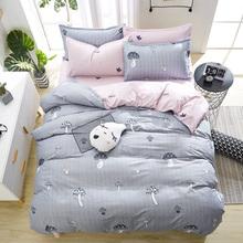 Cute Little Mushroom Bedding Set Christmas Gifts Duvet Cover + Flat Sheet + Pillowcase 3/ 4pcs Friendly Breathable