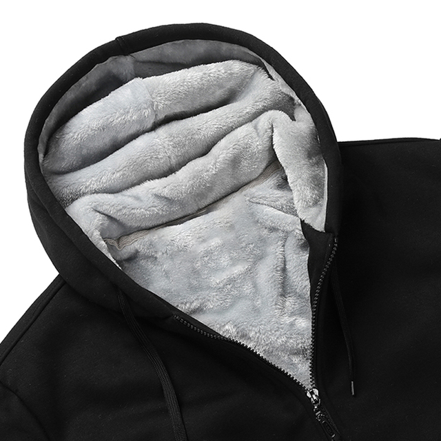 US/EU SIZE Super Warm Hoodies Sweatshirts Men Winter Thick Fleece Men's Jackets Casual Zipper Hoody Adult Coats Top Clothes Male