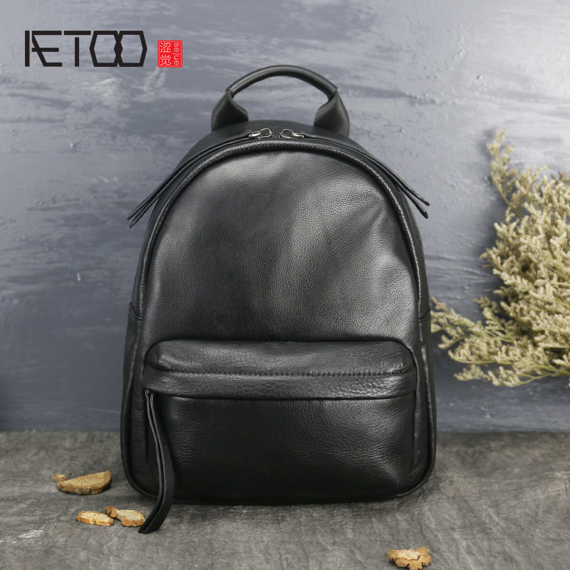 AETOO Fashionable women's first layer of leather large leather bags female new personality shoulder bag aetoo casual fashion shoulder bag leather new female package first layer of leather bags simple temperament leisure travel packa