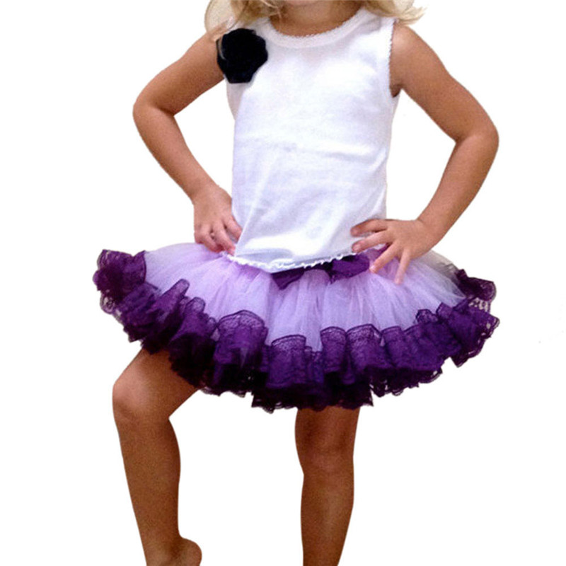Röcke Dynamisch 2-8y Prinzessin Kinder Girl Mehrschicht Tüll Party Dance Röcke Kurz Kuchen Tutu Rock Mädchen Kleidung