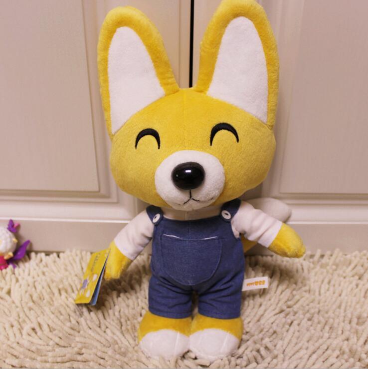 1pcs 30cm Kid Toys Korea Pororo Plush Toys Cute Fox Eddy Stuffed Animals Soft Toys Doll Pelucia Brinquedos for Children Gift