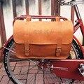 E0987 Бесплатная доставка  практичная Ретро сумка из 100% воловьей кожи на заднюю стойку для велосипеда  супер большая подвесная сумка на руль в...