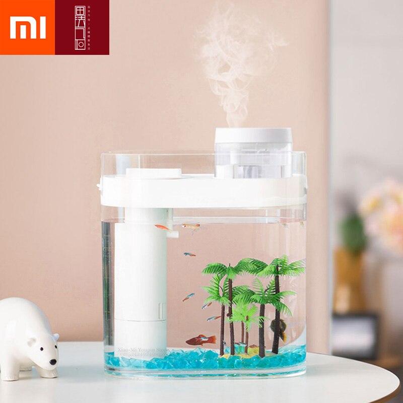 Xiaomi Mijia HFJH Geometry Fish Tank Aquaponics Ecosystem Small Water Garden Ecological Fish Tank Aquarium Transparent
