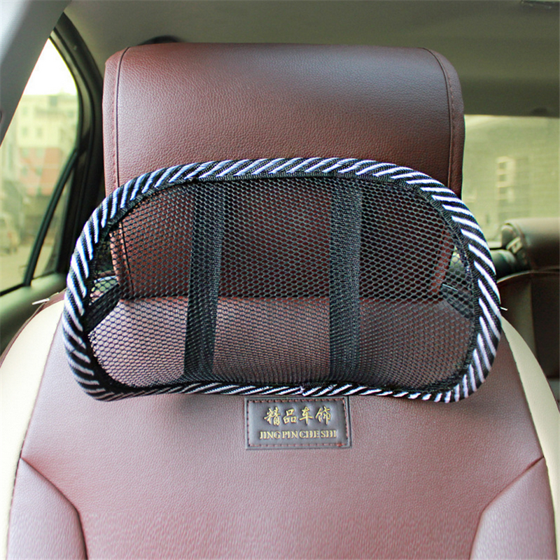Car Mesh Pillow Neck Support Auto Seat Pillow Cushion Ice Silk Ventilation Pillow Seat Backrest Headrest Interior Accessories