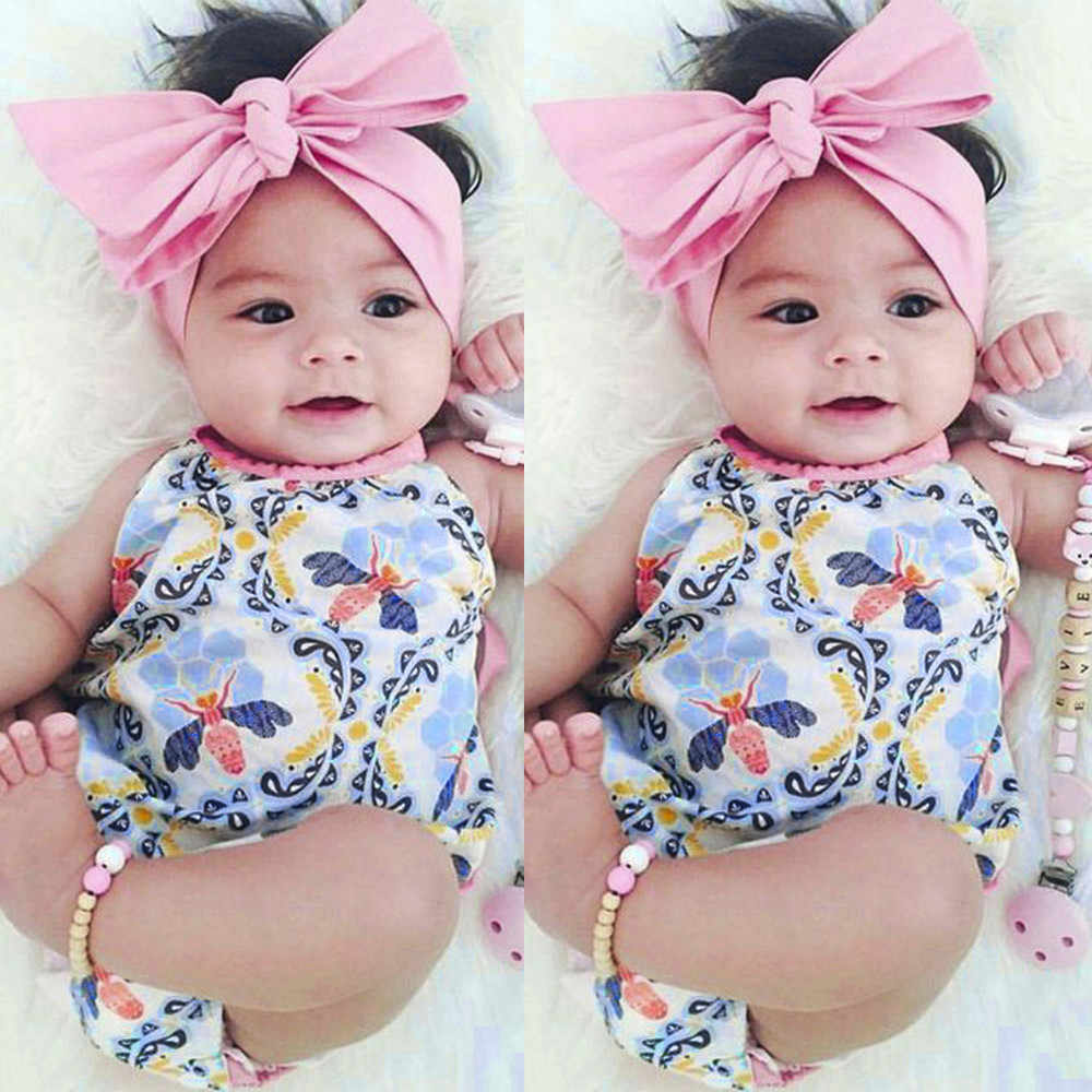 9b63a5744fc ... MUQGEW Summer Baby Clothing Set Rompers 2Pcs Newborn Baby Girls Infant  Floral Toddler Jumpsuit Romper+ ...