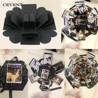 CEVENT 1pc Surprise Gifts Box Manual Lovers DIY Photos Valentine's Day Wedding Romance Creative Birthday Party Surprise Gift