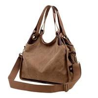 Large Capacity Women's Canvas Handbag Casual Vintage Shoulder Bags Vintage Crossbody Messenger Bags Female Tote Bags Trapeze