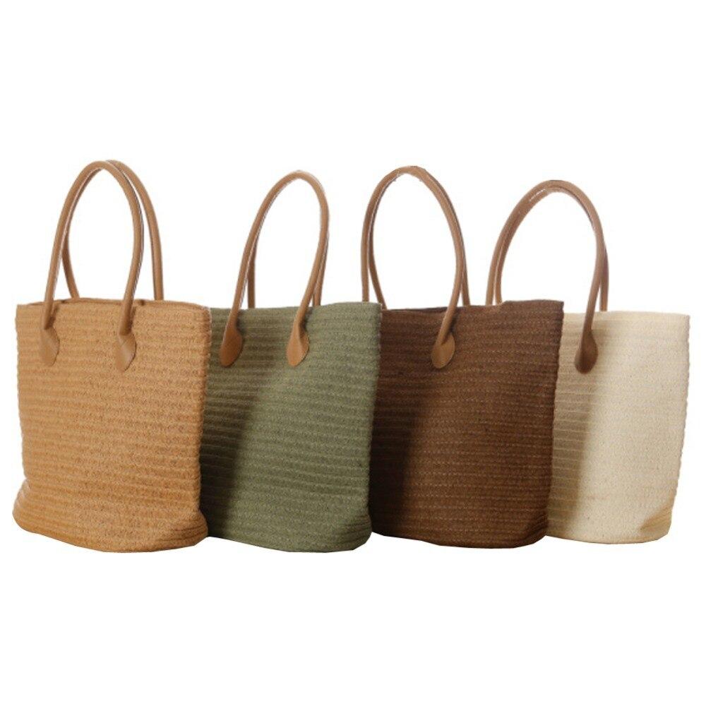 Aliexpress.com : Buy Women's Classic Straw Bag Brief Solid Beach ...